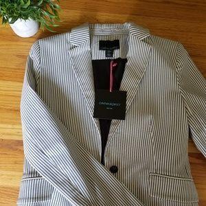 Cynthia Rowley NWT White Blue Striped Blazer - S